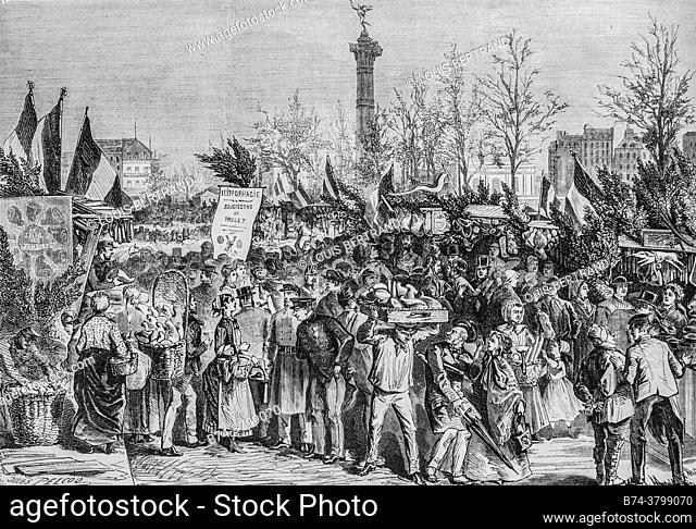 the ham fair at boulevard bourdon, the illustrious universe, publisher michel levy 1868