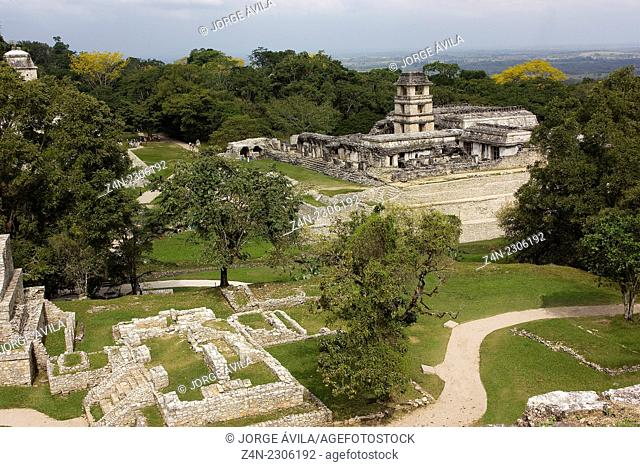 The Castle, Palenque piramyd, Maya, Mexico
