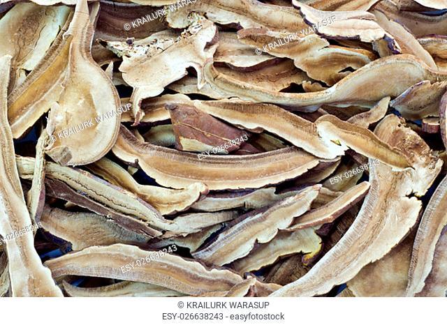 Piles of Dried Shiitake Mushroom , background