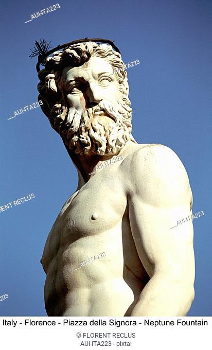 Italy - Florence - Piazza della Signoria - Neptune Fountain