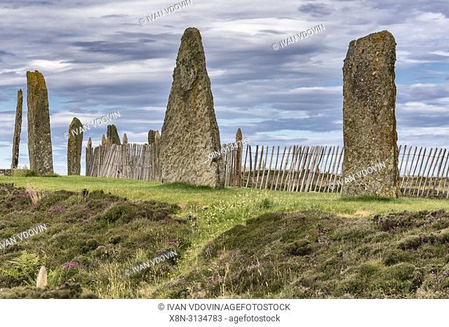 Ring of Brodgar, Mainland, Orkney islands, Scotland, UK