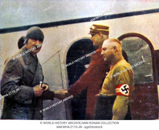Hitler boarding a plane in Germany circa 1933