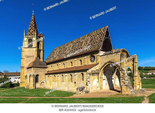 Chuch of La Benisson-Dieu, Cistercian monastery, La Benisson-Dieu village, Roanne arrondissement, Loire département, Auvergne-Rhône-Alpes region, France