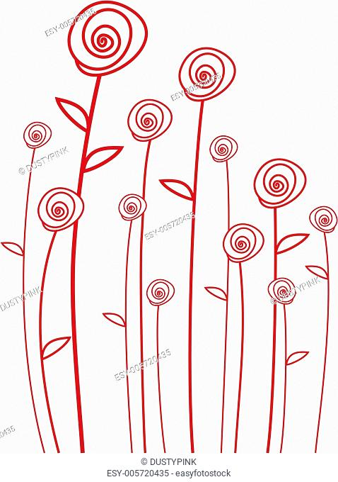 abstarct red roses