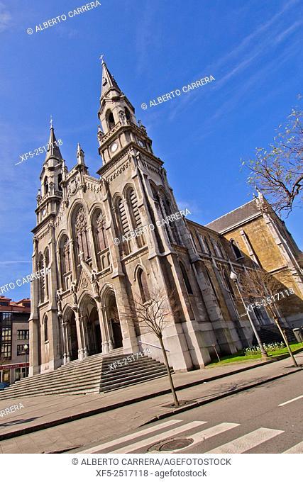St. Thomas of Canterbury's Parish, Sabugo's New Church, Parroquia Santo Tomás de Cantorbery, Avilés, Asturias, Spain, Europe