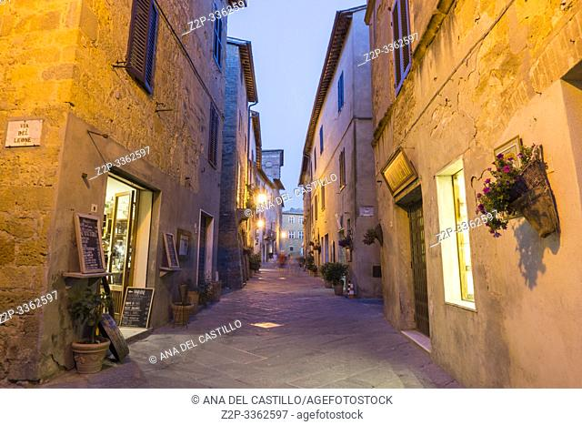 Pienza Orcia valley Tuscany on July 6, 2019 Italy
