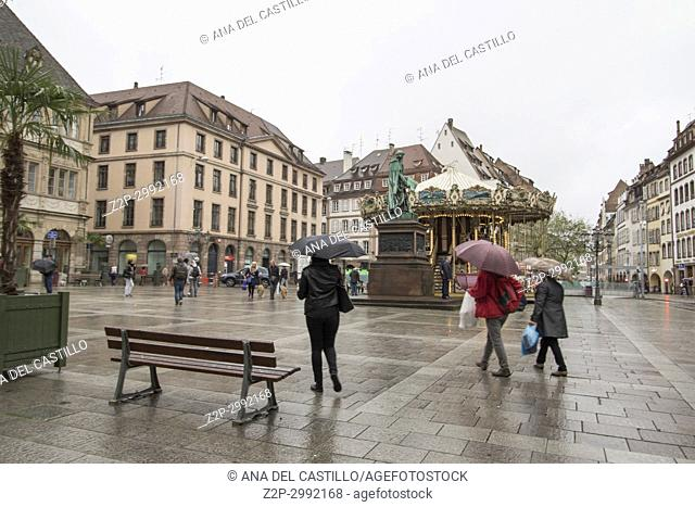 Cityscape in Strasbourg on May 12, 2016 in Alsace France