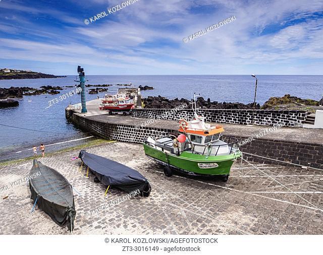 Port in Calheta de Nesquim, Pico Island, Azores, Portugal