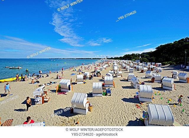 At the Bay of Luebeck. One of the most popular vacation regions in the north of Germany. . Timmendorfer Strand, luxury resort, at the beach of Hotel Maritim