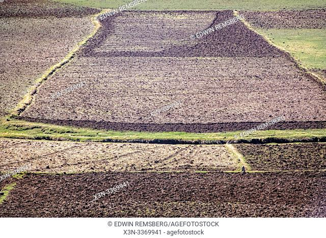 Field spaces for farming near Debre Berhan, Ethiopia