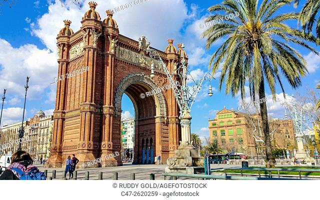 Barcelona, Spain, The Arc de Triomf was built as the main access gate for the 1888 Barcelona World Fair by architect Josep Vilaseca i Casanovas