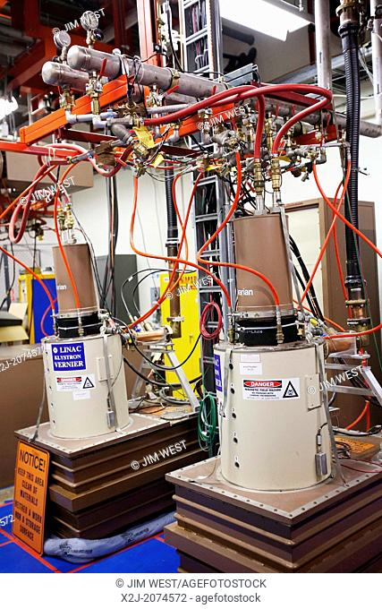Batavia, Illinois - Equipment at the linear accelerator at the Fermi National Accelerator Laboratory (Fermilab), where scientists conduct basic research into...