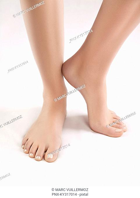 Close-up of woman's feet