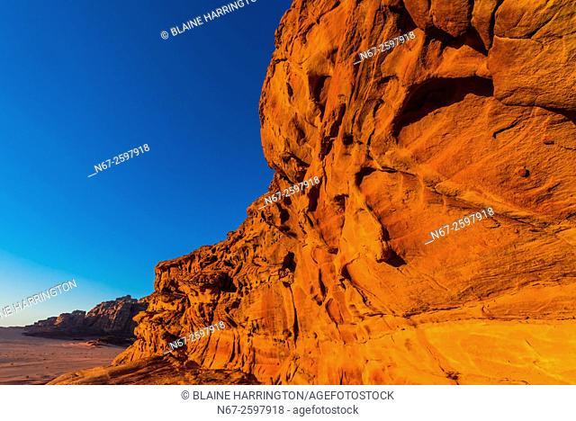 Rock formations, Wadi Rum, Arabian Desert, Jordan