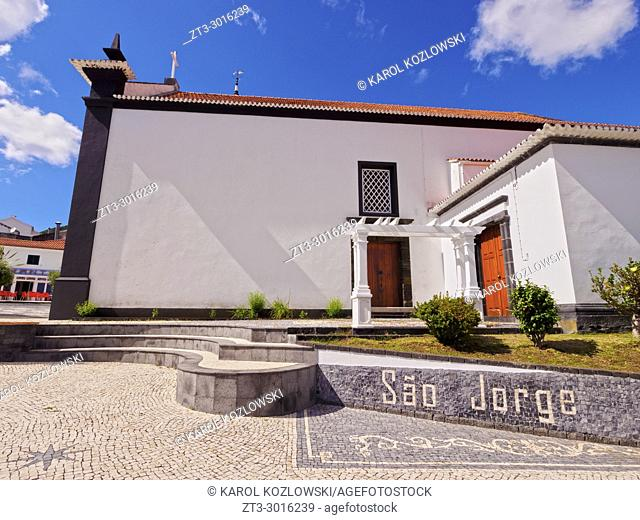 Igreja Matriz de Sao Jorge, Mother Church, Velas, Sao Jorge Island, Azores, Portugal
