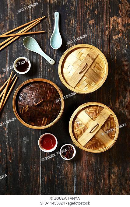 Chinese dim sum utensils