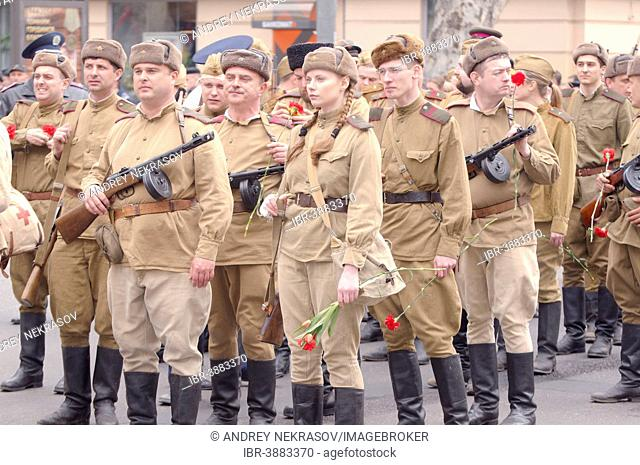 Parade commemorating the liberation of Odessa from the Nazis, Odessa, Ukraine