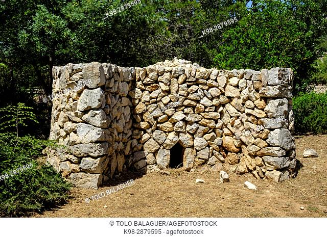 horno de cal, Parc Etnològic de Caimari, Caimari, municipio de Selva, Mallorca, balearic islands, spain, europe