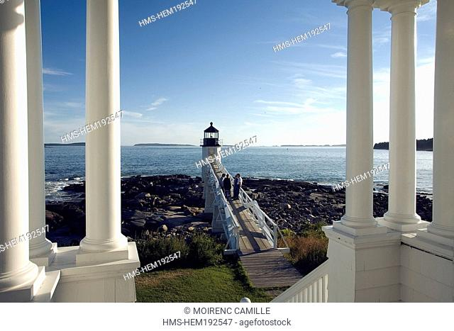 United States, Maine, Port Clyde, Marshall Point Lighthouse