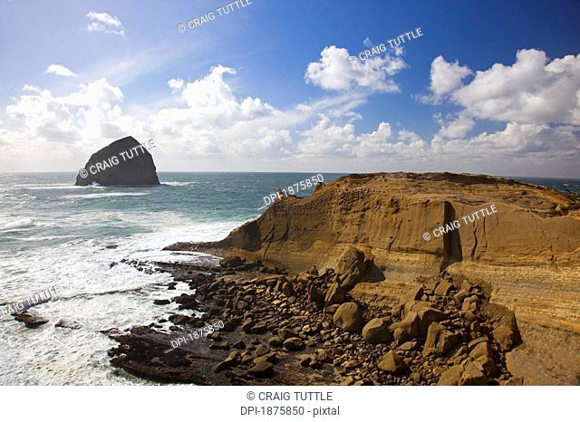Pacific City, Oregon, United States Of America, Haystack Rock At Cape Kiwanda