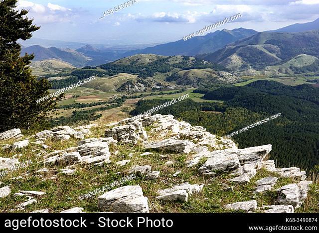 Mountain landscape near Mormanno, Calabria, Italy