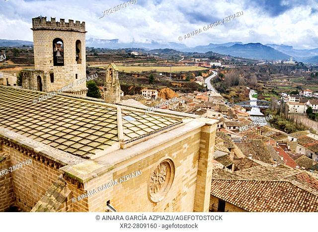 Aerial view of Valderrobres, Teruel, Aragon, Spain