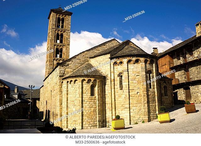 Santa Maria de Taull romanesque church. Taull, Vall de Boi, Lleida, Catalonia, Spain. Unesco World Heritage Site