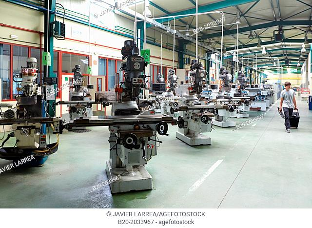 Machine tool for training students. IMH. Institute of Machine Tools. Elgoibar. Gipuzkoa. Basque Country. Spain
