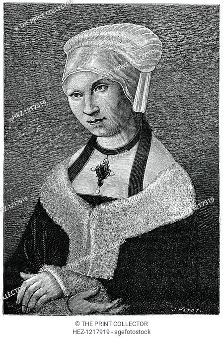 'Princess Sibylla of Saxony', (1870). A wood engraving from The Arts of the Middle Ages and at the Period of the Renaissance, by Paul Lacroix, (London, 1870)