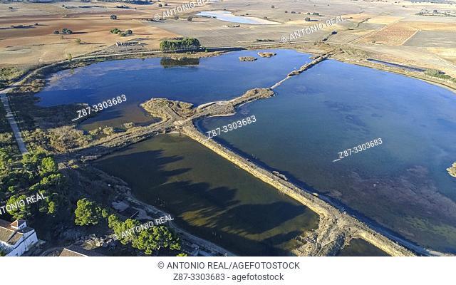 Laguna del Saladar. La Higuera. Corral Rubio. Albacete province, Castile-La Mancha, Spain
