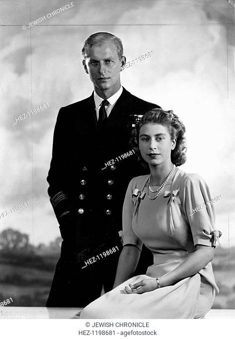 Queen Elizabeth II with the Duke of Edinburgh