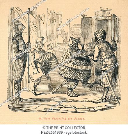 'William departing for France', c1860, (c1860). William I (c1028-1087) departing for France in 1086 to negotiate possessions with Philip I (1052-1108)