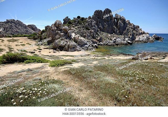 Sardinia, Italy rocks in Capo Testa