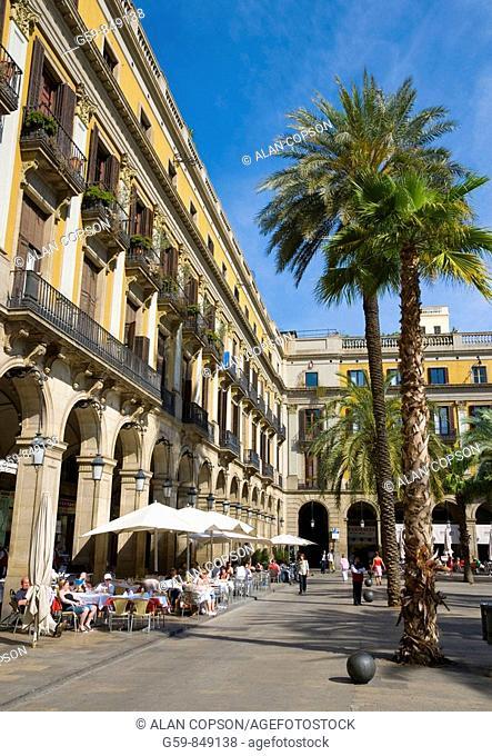 Spain, Catalunia Catalunya, Barcelona, Placa Reial