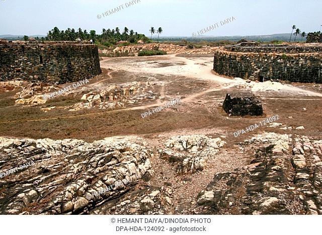 350 years old Sindhudurg Fort in the middle of the sea built by Chhatrapati Shivaji Maharaj ; Maharashtra ; India
