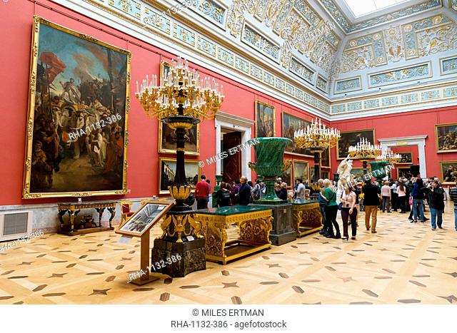 Interior of the Winter Palace, State Hermitage Museum, UNESCO World Heritage Site, St. Petersburg, Russia, Europe