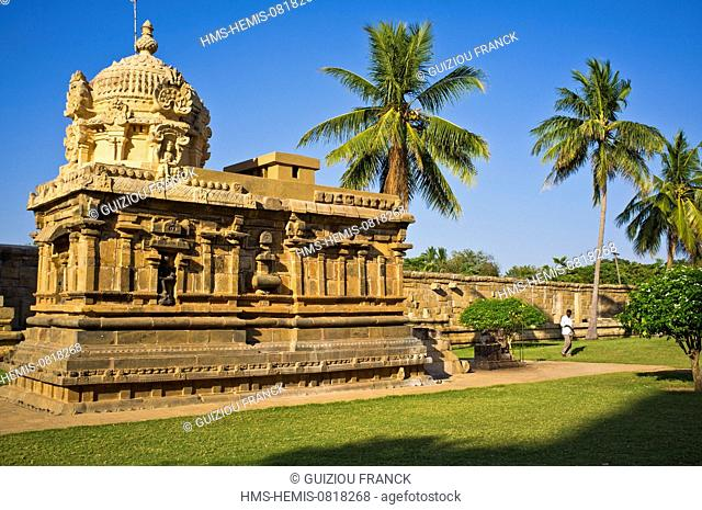 India, Tamil Nadu State, Gangaikondacholapuram, the Brihadisvara temple is part of the Great Living Chola Temples listed as World Heritage by UNESCO