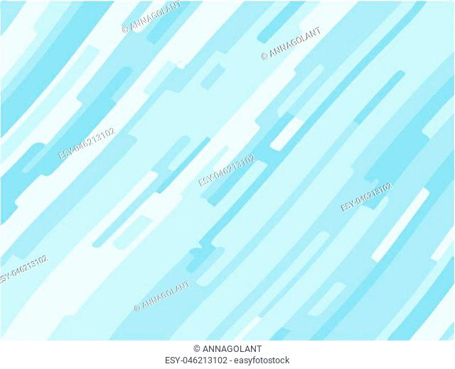 Light blue background with optical effect. Curved lines. Minimal design. Zigzag, wavy pattern. Vector illustration for posters, covers, wrappers, business cards