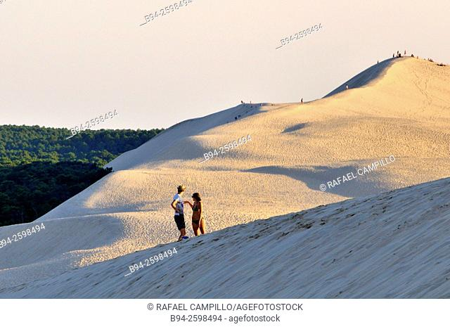 Dune of Pilat or Pyla (French: Dune du Pilat, official name), is the tallest sand dune in Europe. It is located in La Teste-de-Buch in the Arcachon Bay area