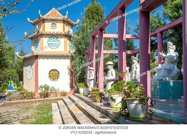 Temple of the Pagoda Hong Hien, Frejus, Var, Provence-Alpes-Cote d`Azur, France, Europe
