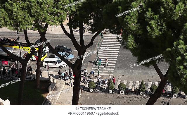 Street scene, Italy, Rome, Europe