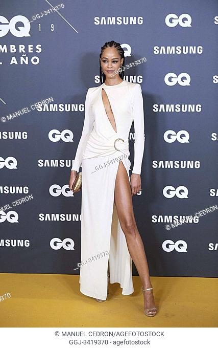 Godeliv attends GQ Men of the Year Awards 2019 at Palace Hotel on November 21, 2019 in Madrid, Spain