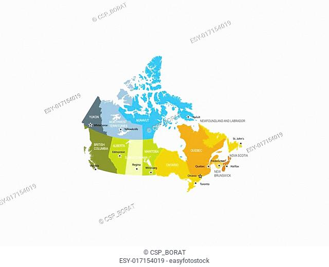 Map of provinces and territories of