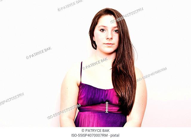 Teenage girl wearing a dress