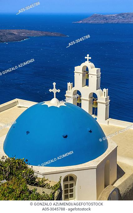Agios Minas Church. Firostefani. Santorini Island. Ciclades Islands. Greece