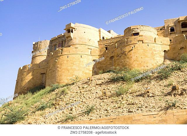 Walls of fort. Jaisalmer, Rajasthan. India