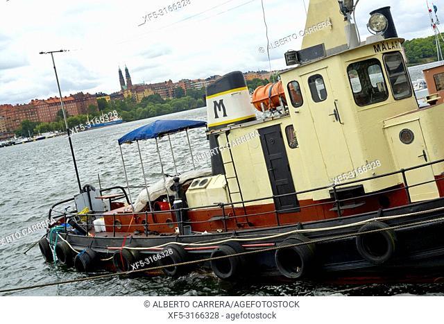 Old Boats Harbour, Riddarfjärden, Old Town,Stockholm, Sweden, Scandinavia, Europe