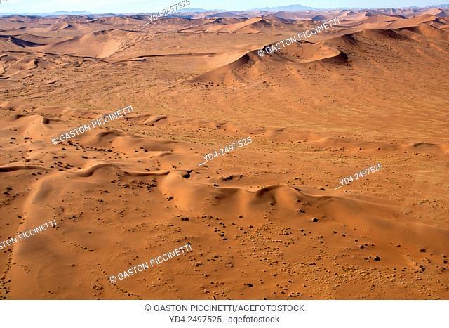 Namib desert from the air, Namib-Naukluft National Park, Namibia