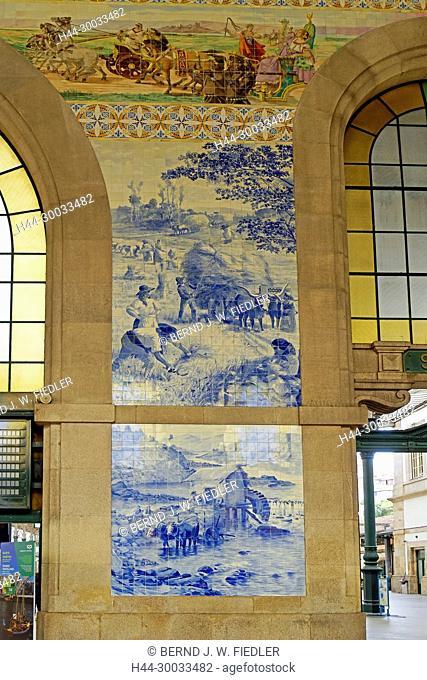 Porto Sao Bento, Bahnhof, Kachelbilder