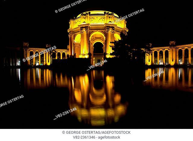 Palace of Fine Arts at night, San Francisco, California